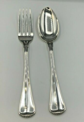 """MIlano by Buccellati Sterling Silver 2 piece Serving Fork & Spoon Set 10 3/8"""""""