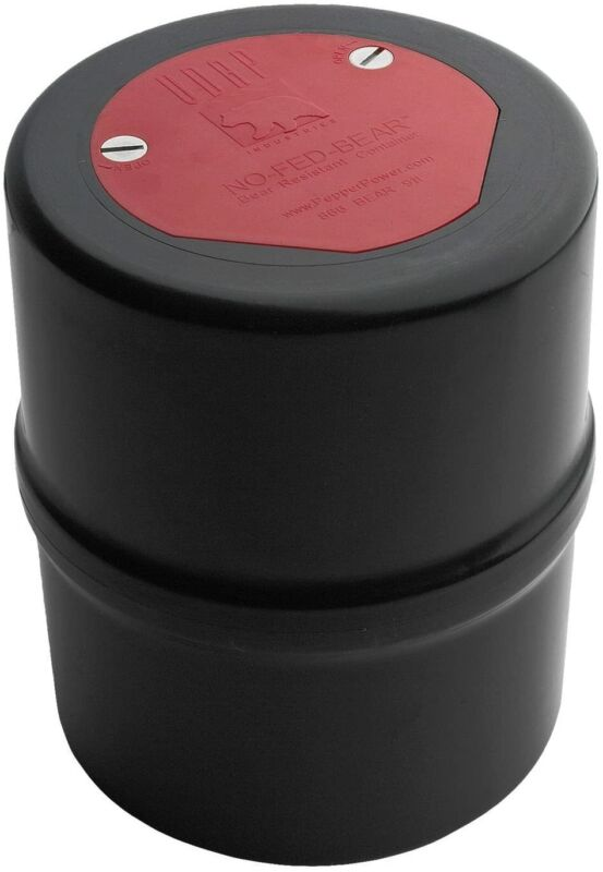 Udap BRC NO-FED-Bear Resistant Canister Outdoor Camping Food Container Black Red