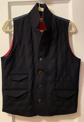 Homecore mens vest Quilted Wool Blend Black Size M Made In Portugal MSR $225