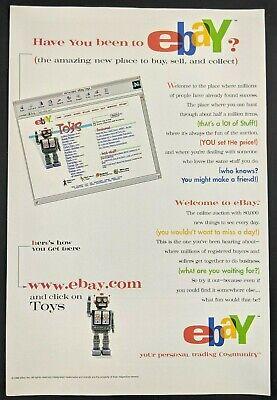 eBay Netscape Print Ad Poster Art PROMO Official Vintage Advert Robot Toys