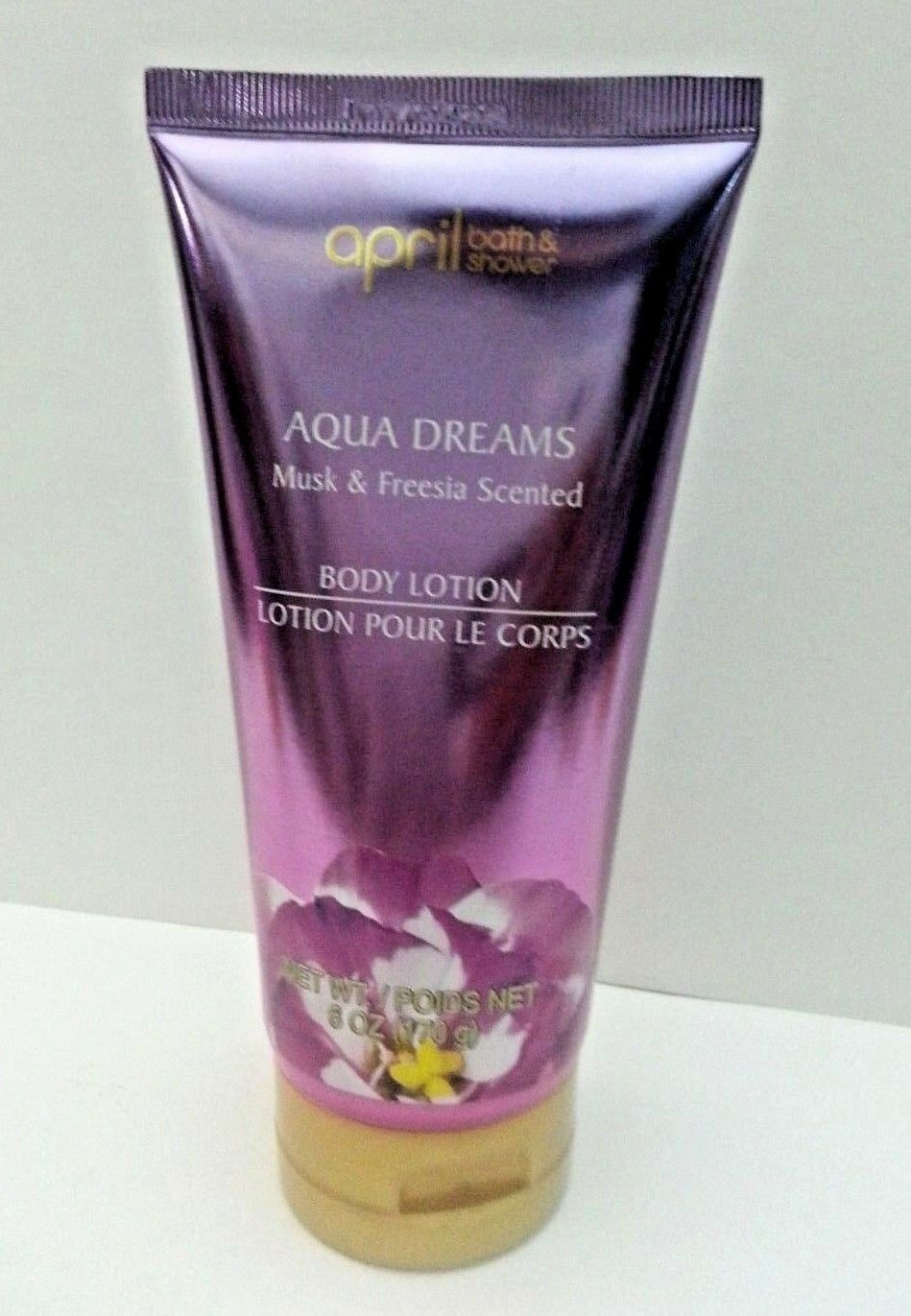 4 X NEW April Aqua Dreams Body Lotion Musk & Freesia Scented
