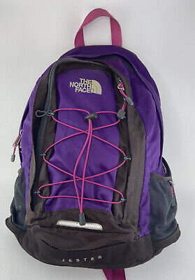 The North Face Purple/Pink Jester Backpack (Hiking School Book Bag Day Pack)