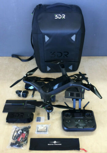3DR Solo Drone With GoPro Hero 4, Case and Extras