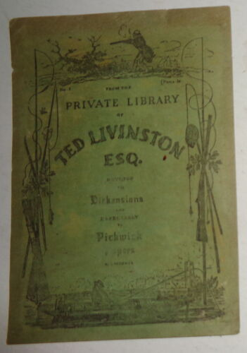 Ted Livingston Ex Libris Bookplate - 1936 - Dickensiana, Pickwick Papers