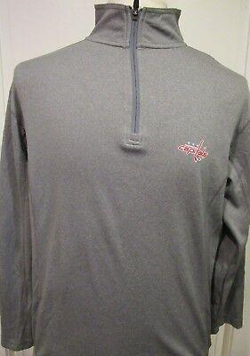 NHL Merchandise Washington Capitals Quarter Zip Long Sleeve Pullover, Men's M Washington Capitals Merchandise