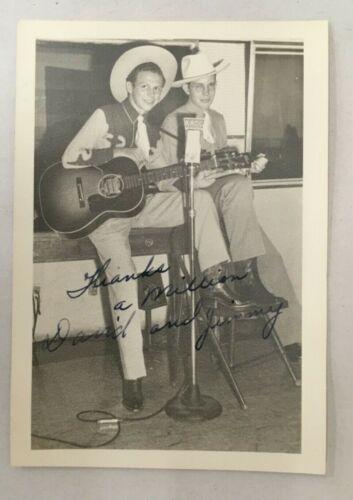 Country Western Hillbilly Music, David & Jimmy  KXOL Radio Ft Worth Texas 1950
