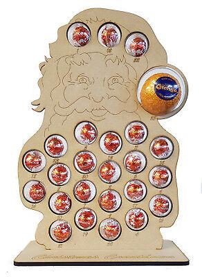Santa Claus Christmas Advent Calendar Stand Chocolate Orange & Lindt Baubles