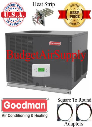 3 Ton 14 Seer Goodman Heat Pump Multiposition Package Unit Gph1436m41+heat+tstat