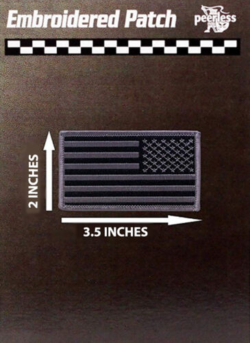 """American Flag Patch Subdued 2"""" x 3.5"""" Reverse"""