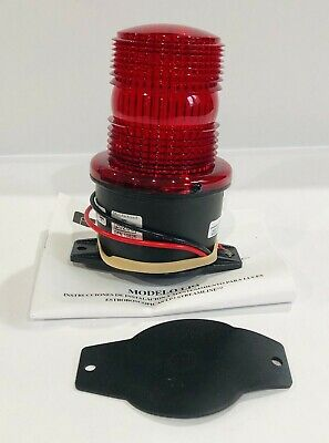 Federal Signal Flat Surface Low Profile Red Strobe Warning Light 12-48vdc