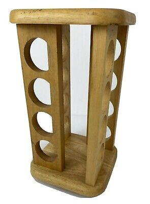 VTG Wooden Swivel 16 Jar Spice Rack K Cup & Spices holder By M. KAMENSTEIN INC