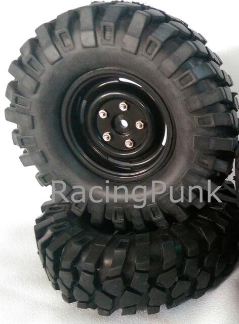 Absima RC Car Wheel Set Crawler Steelhammer 96mm 1:10 Off Road Truck 12mm Hex UK