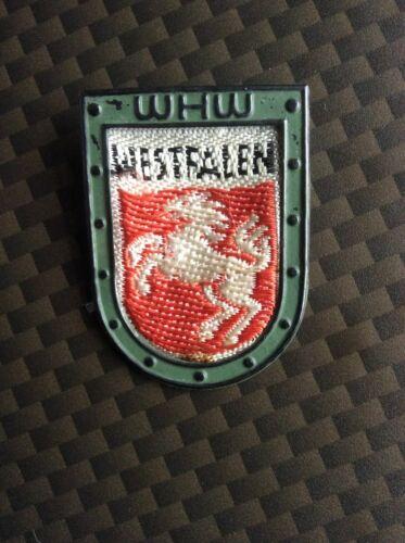 Authentic WWII Era German Winter Relief Fund WESTFALLEN Embroidered Tinnie WHW