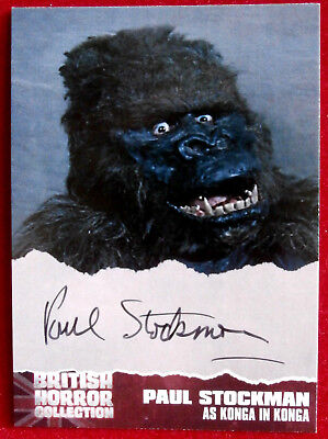 BRITISH HORROR COLLECTION - PAUL STOCKMAN - as KONGA - Autograph Card PS3