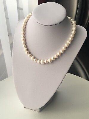 Perlenkette 8-9mm Süßwasserperlen Halskette echte perlen Geschenk