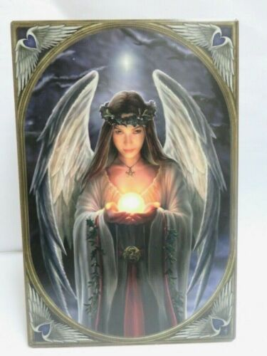 """Anne Stokes Collection Tile 8.5"""" X 11.5"""" Yule Angel/Winter Solstice Nemesis Now"""