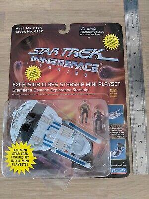 STAR TREK INNERSPACE SERIES. EXCELSIOR - CLASS STARSHIP MINI PLAYSET.