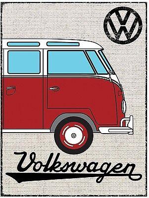 VW Split Screen Camper - Red Splity official licensed product Metal Sign
