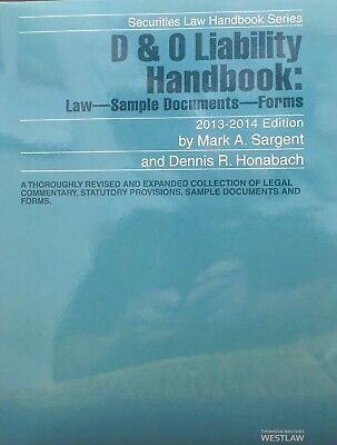 D   O Liability Handbook  Law Sample Documents Forms  2013 2014 Thomson Reuters