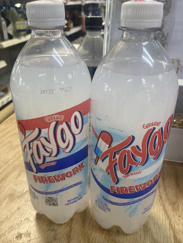 2x FAYGO FIREWORK BOMB POP Big 24 OZ Soda Detriot MI LIMITED EDITION LOT of 2