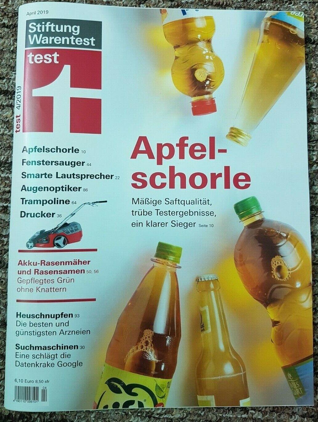 Neuw test Stiftung Warentest Fenstersauger Trampoline Drucker Rasenmäher April