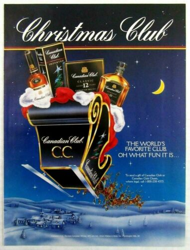 1994 CANADIAN CLUB Canadian Whisky Magazine Ad - Christmas Club