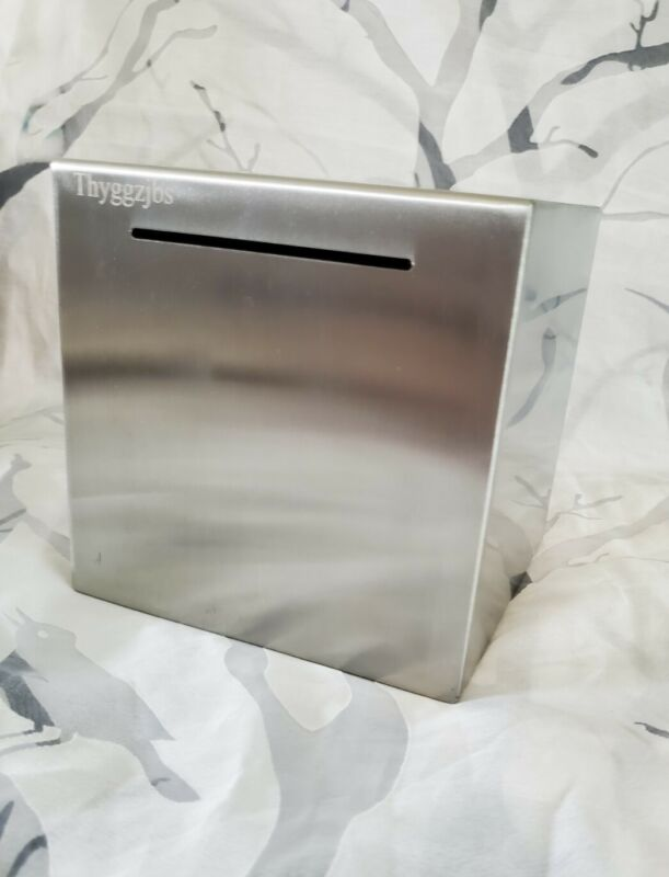 Stainless Steel No-Outlet Piggy Bank for Adults Unopenable Thyggzjbs