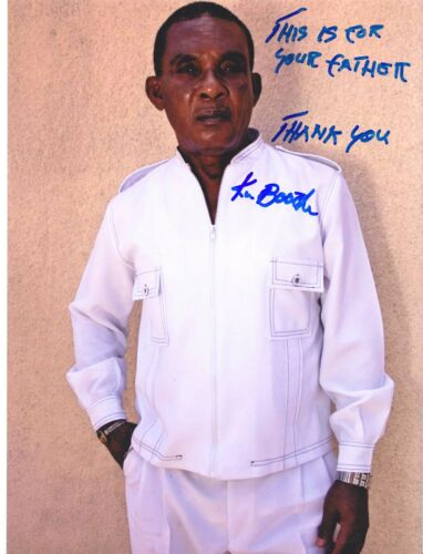 KEN BOOTHE Reggae legend VERY RARE AMAZING IN PERSON SIGNED W/ PROOF COA
