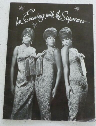 AN EVENING WITH THE SUPREMES 1967 PROGRAM DIANA ROSS & THE SUPREMES