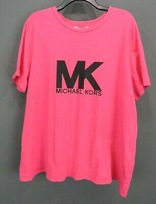 Michael Kors Plus Size 2X Cotton Logo T-Shirt $64 # 5D 1217 B