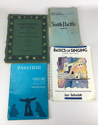 Lot of 4 Vintage Educational Sheet Music Singing Books