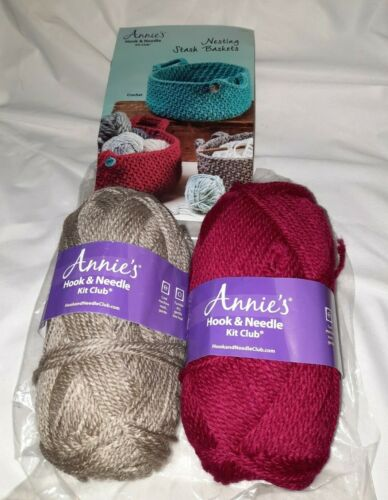 *Read* Crochet or Knit Kit. Annie's Hook and Needle Club Nesting Baskets
