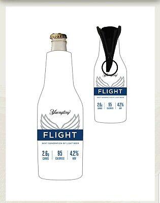 (2) New Yuengling Flight Light Lager Beer Bottle Holder Koozie Cooler Jacket