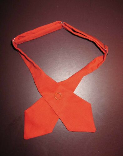 OFFICIAL Orange TIE for GIRL SCOUT BROWNIE Uniform 1973 GSB-7 & 8 HALLOWEEN