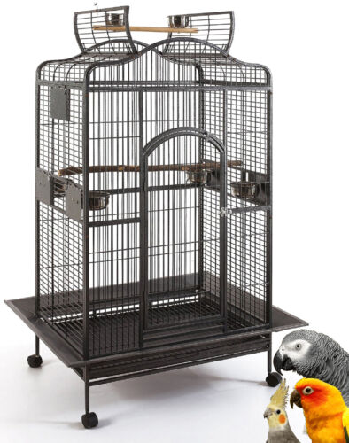 "63"" Large Open Dome Play Top Bird Parrot Cage Macaw Conure Cockatiel Amazon 119"