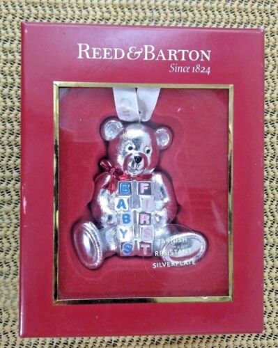 Reed & Barton Ornament 2011 Baby's First Bear Silver Plated 3522   New    (OR21)