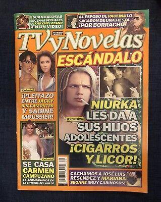 TV Y Novelas revista magazine Marzo 11 2008 Estados Unidos Niurka Bacamontes