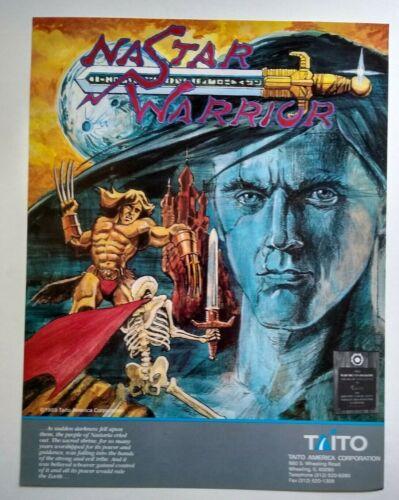 Taito Nastar Warrior Arcade FLYER Original 1989 Video Game Paper Artwork Sheet