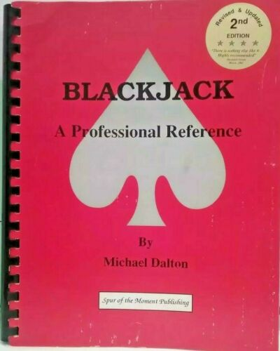 Blackjack Professional Reference by Michael Dalton 1992 Spiral Paperback