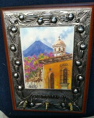 Guatemala Key Hanger Collectible With Metal Perimeter  for sale  East Sandwich