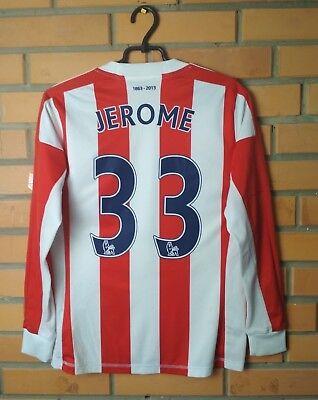 Stoke City #33 Jerome 2012-2013 football Home jersey long sleeve size XS Adidas image