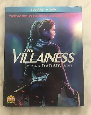 THE VILLAINESS 2 DISK BLU DVD WITH EMBOSSED SLIPCOVER VERY GOOD