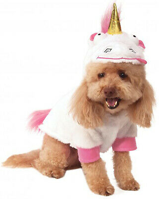 Fluffy Unicorn Despicable Me Plush Animal Pet Dog Cat Halloween Costume - Despicable Me Unicorn Halloween Costume