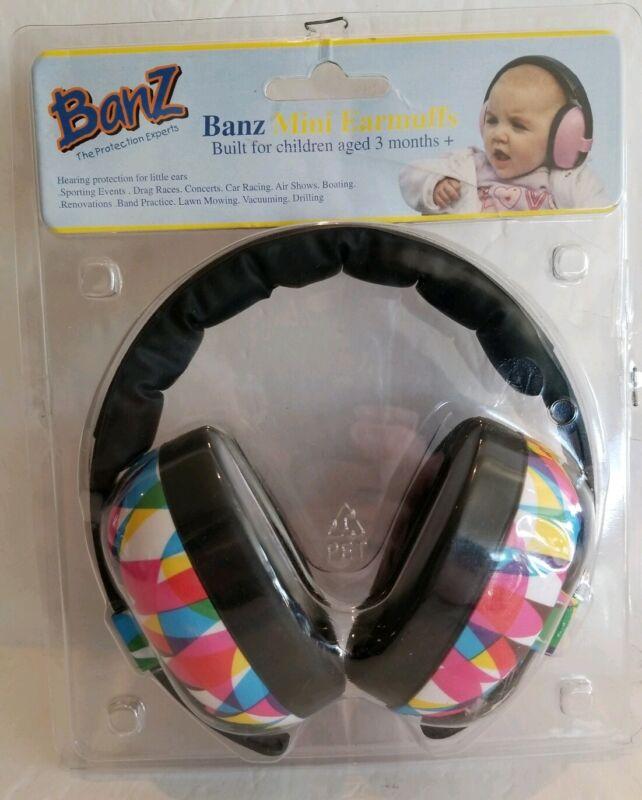 Banz The Protection Experts Mini Earmuffs Geo Print 3 Month + EM014