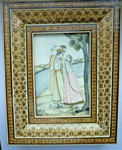 Peinture sur Loupes, Miniature Peinture Perse (Art.4990)