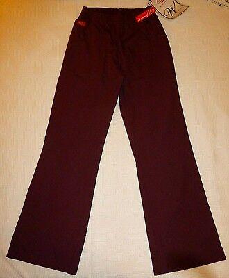 Dickies Scrub Pants Relaxed Fit Boot Cut Leg Elastic Medical Uniform Wine XS NWT Dickies Medical Bootcut Pant