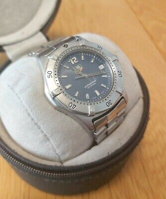TAG HEUER 2000 Series WK1113 Blue Face - with box, paperwork and spare links