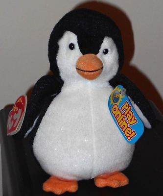 Ty Beanie Baby BB 2.0 ~ CHILL the Penguin (6 Inch) MWMT
