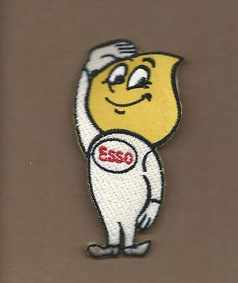 NEW 1 3/4 X 3 1/2 INCH ESSO GASOLINE MAN IRON ON PATCH FREE SHIPPING
