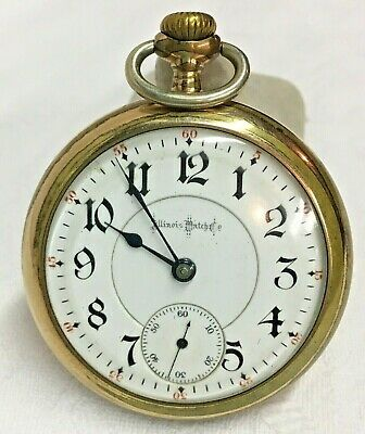 Antique 1898 Illinois Pocket Watch, Bunn Special, 21J, 18S, Model 6, RR Grade *